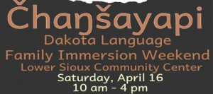 Dakota Language Family Immersion Weekend